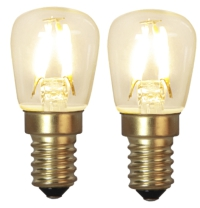 Päronlampa klar LED filament 90lm 2-pack