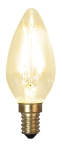 Decoration LED Klar filament lampa Kron E14 2100K 120lm