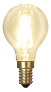 Decoration LED Klar filament lampa Klot E14 2100K 120lm